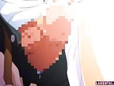 Заметил что хентай девка мастурбирует киску и оттрахал в туалете