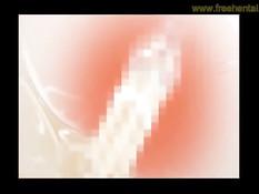 Беременная хентай девушка с красными волосами садится на парня