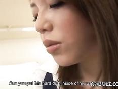 Азиатская секретарша сосала коллеге хуй и трахалась в позе раком