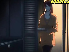 Очкарик насадил на член светловолосую хентай девку с хвостиками