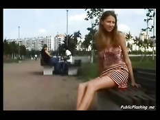 Сборник порно видеоклипов с людьми обнажающимися на публике