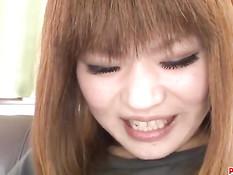 Он тщательно выбрил лобок японской девке и засадил член в попу