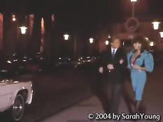 Мужчина отодрал в лимузине сисястую девку в чулках Sarah Young
