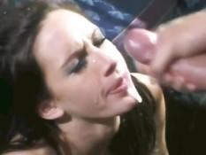 Нарезка семяизвержений на лица девчонок в замедленной съёмке