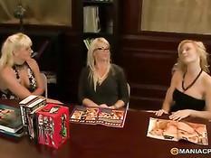 Секс лесби блондиночек Brooke Haven, Holly Sampson и Heidi Mayne
