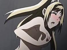 Сексуальная хентай девушка в костюме кошки ебётся с очкариком