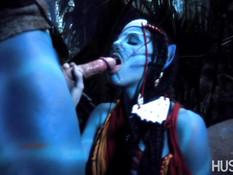 Групповой секс в джунглях планеты Пандора из кинофильма Аватар