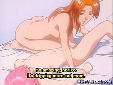 Две аниме лесбиянки после бани занимаются сексом в позе ножницы
