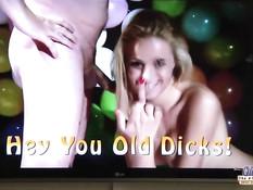 Медсестра блондинка Cherry Kiss отсосала у мужичка и дала в анал