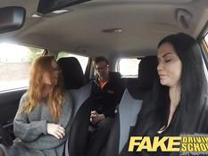 Зрелая брюнетка Jasmine Jae и рыжая Ella Hughes ебутся с парнем