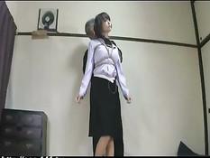 Пожилой мужчина жёстко оттрахал длинноволосую японскую девку