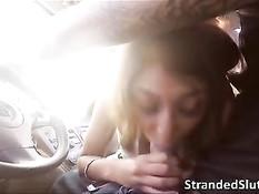 Мужчина подвёз девчонку в своём автомобиле и отодрал на стоянке
