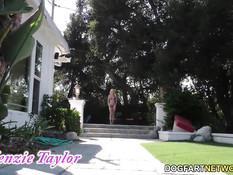 Гламурную блондинку Kenzie Taylor отодрал в анал чёрный мужчина