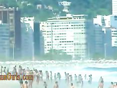 Секс со знойными бразильскими девками на фоне красивой природы