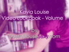 Кудрявая мулаточка Kayla Louise обнажает свои молодые прелести