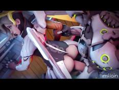 Сборник аниме порно видео по мотивам популярной игры Overwatch
