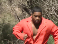Пышногрудая женщина Maya Hills трахается с чернокожим беглецом