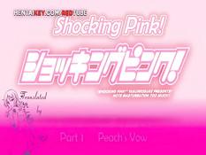 Пышногрудая хентай красотка с розовыми волосами уселась на член