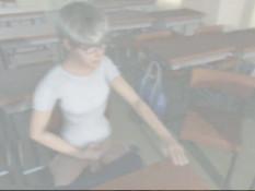 Студент в очках подрочил член на лекции 3D преподавательницы