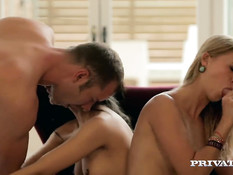 Групповая секс оргия с красивыми девками Alicia Poz и Violette Pink