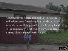 Посадил в машину сисястую блондинку Paris Knight и отымел в пизду