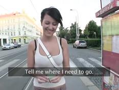 Снял на остановке грудастую чешскую девчонку и отодрал в депо
