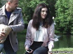 Девка с тату на животе Jenny Ferry трахается с опытным любовником