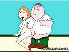 Сборник порно роликов с горячей аниме женщиной Лоис Гриффин