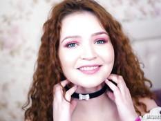 Рыжая девчонка с кудрявыми волосами дала отпердолить себя в анал