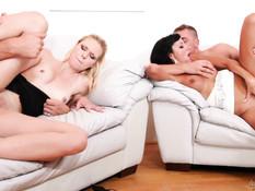 Европейские свингеры встретились чтобы заняться сексом вшестером