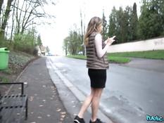 Снял на остановке молодую русскую блондинку и отымел в ближайшем лесу