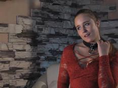 Отхлестал плетью молодую русскую секс рабыню и заставил сосать член