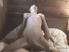 Amateur girl riding