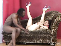 Young girl gets chocolate dick