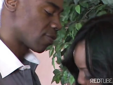 Black slut gets assbanged