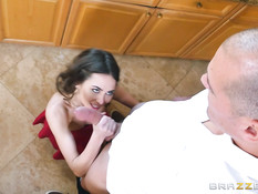 Две молодые американские пары после обеда занимаются свинг сексом