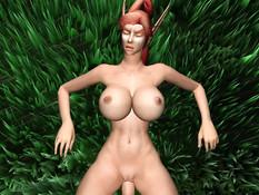 An Unexpected Rendezvous In Teldrassil Forest / Неожиданное свидание в лесу Тельдрассил