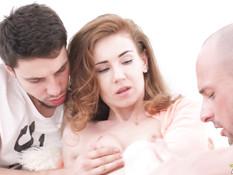 После двойного проникновения рыжей русской тёлке залили лицо спермой