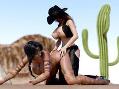 FutaErotica - Wild Wild West / Фута Эротика - Дикий Дикий Запад