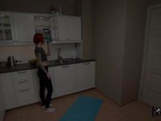 Рыжая русская девка с тату и пирсингом отпердолена в смазанный анус