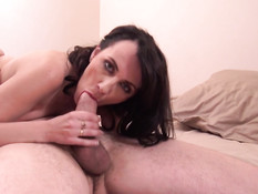 Мужчина отодрал на порно кастинге в анал сиськастую зрелую брюнетку