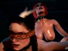 Corruption of the Lodge - A Witcher Futa / Развращение в избушке - Ведьмак фута