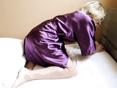 Отпердолил застрявшую сисястую блондинку во влагалище и рабочий анус