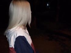 Светловолосая русская соска делает глубокий минет и глотает сперму