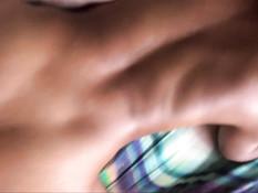 Перевозбуждённая молодая мулатка получила сперму на маленькую грудь