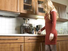 Светловолосую русскую даму с большой грудью отымели в волосатую пизду