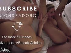 Две молодые блондинки занялись горячим свинг сексом с двумя друзьями