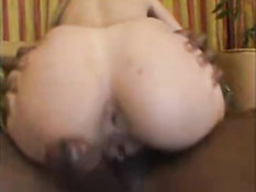 White chick gets drilled by huge black dick