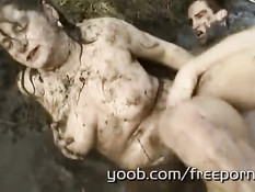 Nasty mud granny